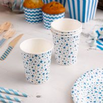 Carnival Blue Paper Cups - Stars (8)